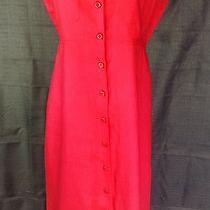 Liz Claiborne Linen Red Dress Size S Photo