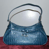 Liz Claiborne Midnight Blue Small Shoulder Baguette Purse  Photo
