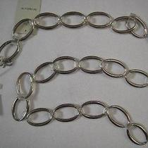 Liz Claiborne  New Silver Tone O-Ring Belt Sz L/xl / 37
