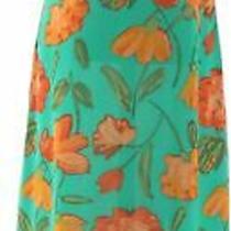 Liz Claiborne Ny Petite Floral Print Maxi Dress Freshmint 6p New A263454 Photo