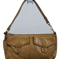 Liz Claiborne Nyc Satchel Hobo Handbag Bag Purse Brown Leather Small Demi  Photo