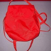 Liz Claiborne Orange Nylon Back Style Small Shoulder Bag - Nwot Photo