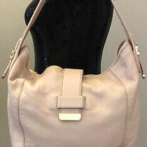 Liz Claiborne Pale Pink Soft Pebbled Leather Purse Handbag Hobo Slouch Style Bag Photo