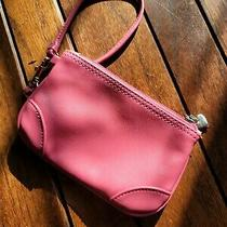Liz Claiborne Pink Convertible Clutch With Heart Charm Photo