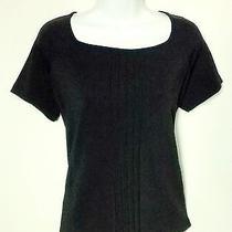 Liz Claiborne Pintuck Knit Top - Size Medium - Free Shipping Photo