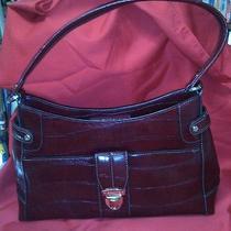 Liz Claiborne Purse Handbag Burgandy/wine Color Photo