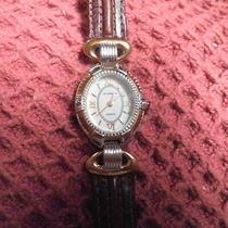 Liz Claiborne Quartz Watch Leather Band Wa4110 Needs Battery Photo