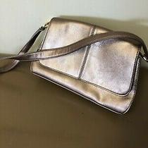 Liz Claiborne Shoulder Bag Bronze/blush Shimmer Color Size Small Euc Photo