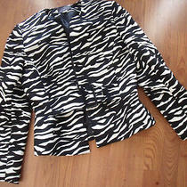 Liz Claiborne Size 8 Womans Zebra Suit Jacket/blazer  Photo