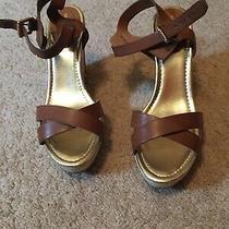 Liz Claiborne Size 9.5 Brown Wedge Sandals Photo