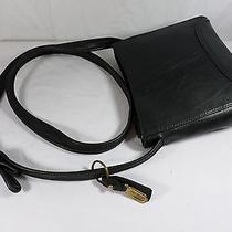 Liz Claiborne Small Faux Black Leather Cross Body Shoulder Bag Purse W/key Ring Photo
