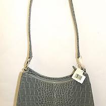 Liz Claiborne Small Gray Croc Shoulder Bag Handbag Purse Nwt  Photo