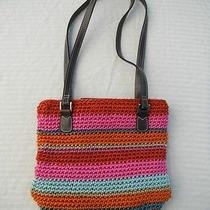 Liz Claiborne Small Handbag in Bright Woven Colors Photo