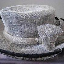 Liz Claiborne  Straw/mesh Wide Turned Brim Hat Photo