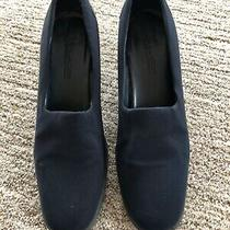 Liz Claiborne Villager Classic Navy Blue Pumps Size 7.5 Ex Condition Photo