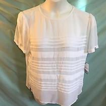 Liz Claiborne White Sheer Top Shirt Xl See Through Photo