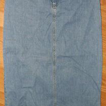 Liz Claiborne Womens Long Blue Jean Denim Skirt Sz 4 5205 Photo