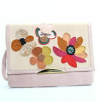 Lizzie Fortunato Handbag Pink Blush Posy Port of Call Clutch Leather 450- 705 Photo