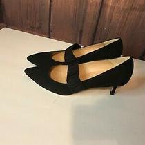 Lk Bennett Black Suede Mary Jane Pumps Size 39.5wow Photo