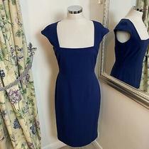 Lk Bennett Size 10 Blue Smart Work Office Business Career Pencil Dress Wiggle  Photo