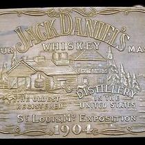 Lk26160 Vintage Jack Daniel's Whiskey Solid Brass Fantasy Collector Buckle Photo