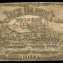 Lk26161 Jack Daniel's Whiskey Booze Solid Brass Fantasy Collector Buckle Photo