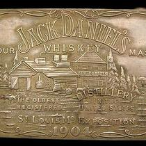 Lk26162 Vintage Jack Daniel's Whiskey Booze Brass Fantasy Collector Buckle Photo