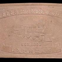 Lk26186 Vintage Wells Fargo & Co's - Express Solid Brass Fantasy Buckle Photo
