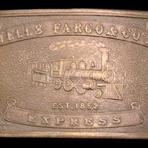Lk26187 Vintage Wells Fargo & Co's - Express Brass Fantasy Collector Buckle Photo