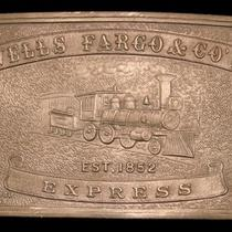 Lk26188 Vintage Wells Fargo & Co's - Express Brass Fantasy Collector Buckle Photo