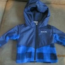 Lkn Columbia Sportswear Sz 3-6mnths Jacket Blue Plaid & Black Photo