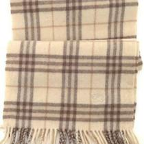 Lknw Burberry London Scarf Plaid Scarf Earth Tones 100% Lambswool Photo
