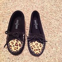 Lknw  Minnetonka Girls Suede Moccasins Size 1 Photo