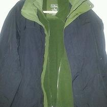 Ll Bean Coat Men's Removable Fleece Jacket Storm Chaser Black / Tuscan Size Med Photo