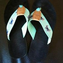 Ll Bean Flip Flops Aqua Size 6 Photo