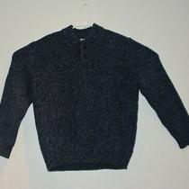 Ll Bean Mens 100% Lambs Wool Mock Neck 2 Button Sweater Blue Sz Xlarge Xl Photo