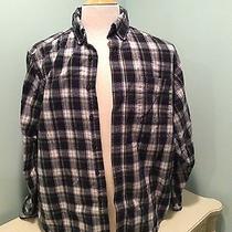 Ll Bean Men's Plaid Flannel Shirt Medium Vintage Dress Campbell Photo