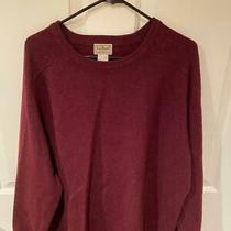 Ll Bean Men's Sweater Xl Regular 100% Lamb's Wool Burgundy Photo