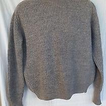 Ll Bean Vtg Mens Xl British-Inspired Wool Commando Sweater Patches Army Green Photo