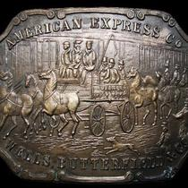 Ll03101 Vintage American Express Co Solid Brass Fantasy Collector Buckle Photo