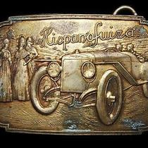 Ll03111 Vintage Hispanofuiza Antique Car Solid Brass Fantasy Collector Buckle Photo