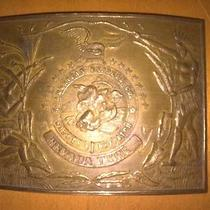 Ll03120 Vintage American Express Co. Nevada Brass Fantasy Collector Buckle Photo
