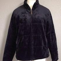 Ln 100 Columbia Womens Double Plush Full Zip Black Jacket Size L Photo