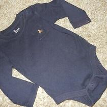 Ln 18-24m Baby Gap Brannan Bear Pocket Long Sleeve Bodysuit Shirt Navy Blue Photo