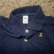 Ln 3-6m Baby Gap Brannan Bear Polo Style Bodysuit Short Sleeve Shirt Navy Blue Photo