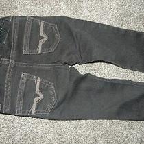 Ln 6-12m 12m Baby Guess Black Skinny Denim Stretch Jeans W/adjustable Waist  Photo