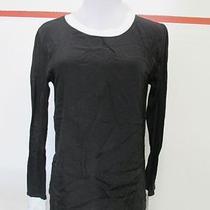 Lna Size M Black Silk Linen Shirt White Trim Back/front Different Material C513 Photo
