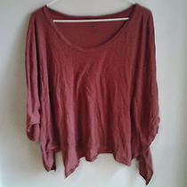 Lna Solid Maroon T-Shirt Sz S Photo