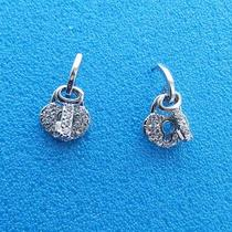 Lock & Key Dangle Earrings Clear Swarovski Earrings E1084 Photo
