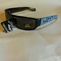 Locs Sunglasses Super Dark Og Gangster Cholo Bandana Black Paisley Blue 9003 Photo